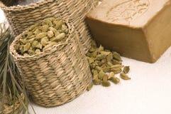 Aroma bath. natural spa Stock Photos
