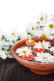 Aroma Bowl with Flowers Vertical Stock Photography