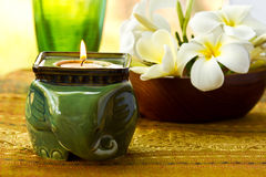 Aroma candle Stock Images