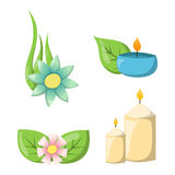 Aroma candle vector illustration. Stock Photos
