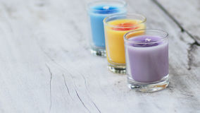 Aroma candles Stock Images