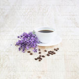 Aroma coffee cup. Royalty Free Stock Images