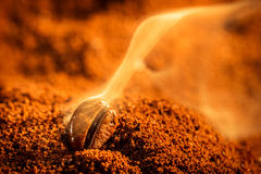 Aroma of coffee seeds roasting royalty free stock photo