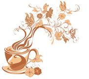 Aroma Coffee. Vector illustration  Royalty Free Stock Photos