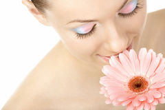Aroma de una flor apacible Imagen de archivo libre de regalías