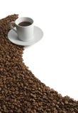 Aroma dei chicchi di caffè Immagini Stock Libere da Diritti