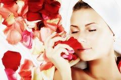 Aroma der Rosen Stockbild