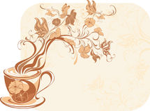 Aroma floral tea. On a white background royalty free illustration