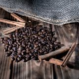 Aroma of fresh coffee royalty free stock photography