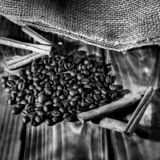Aroma of fresh coffee stock image