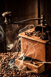 Aroma of fresh ground coffee Royalty Free Stock Photography