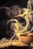Aroma of freshly brewed coffee Royalty Free Stock Photography