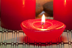 Aroma-Kerze im Badekurort lizenzfreie stockfotografie