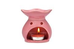 Aroma lamp. On white background royalty free stock photos