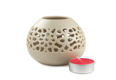Aroma lamp and candle Royalty Free Stock Image