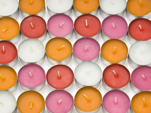 Aroma lamp candles. Little candles used for aroma lamps of different colors stock photography