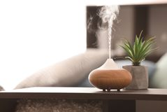 Aroma lamp on table. Aroma lamp on the table stock photos