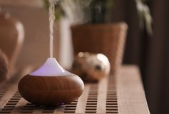 Aroma lamp on table. Aroma lamp on the table Royalty Free Stock Photos