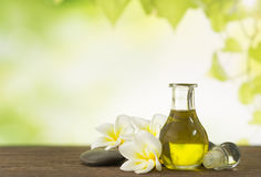 Aroma oil massage Stock Photos