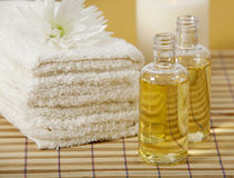 Aroma oils and candles Royalty Free Stock Photo