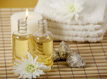Aroma oils and candles Royalty Free Stock Photos