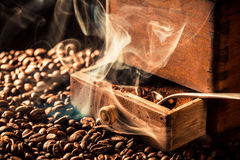 Aroma of roasted coffee beans Royalty Free Stock Photos
