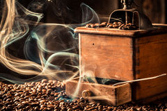 Aroma of roasted coffee grains Royalty Free Stock Photo