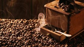 Aroma of roasted coffee stock video