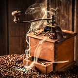 Aroma of roasted ground coffee Stock Photos