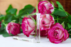 Aroma rose oil (natural perfume) Royalty Free Stock Images