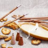 Aroma Set with Smoking Sticks Stock Photo