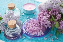Aroma SPA θέστε για aromatherapy, μασάζ, ana χαλαρώνει Στοκ Φωτογραφίες