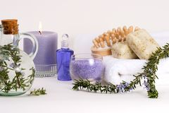 Aroma spa set royalty free stock photos