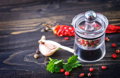 Aroma spice. On a table Stock Images