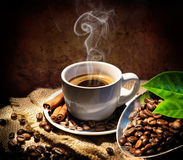 Aroma And Taste In Traditional Coffee. Cup Stock Image