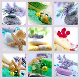 Aroma therapy. Collection of images of aroma therapy object stock image