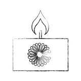 Aroma therapy candle spa icon Royalty Free Stock Images