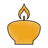 Aroma therapy candle spa icon Royalty Free Stock Photography