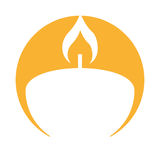 Aroma therapy candle spa icon Royalty Free Stock Image
