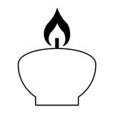 Aroma therapy candle spa icon Stock Images