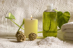 Aroma therapy items Stock Photo
