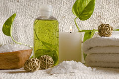 Aroma therapy items Stock Images