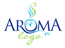 Aroma Therapy Logo. Illustration representing the word aroma in a logo. Can be used my as whole or parts of it for aroma therapy studios or massage saloon stock illustration