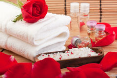 Aroma therapy with roses Stock Photos