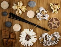 Aroma therapy set royalty free stock photography