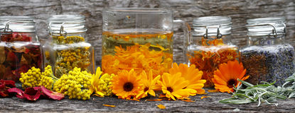 Aroma therapy. Spiritual smoking with native herbs amd tea royalty free stock photography