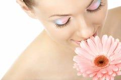 Aroma van een zachte bloem Royalty-vrije Stock Afbeelding