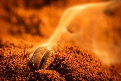Aroma van koffiezaden het roosteren Royalty-vrije Stock Foto