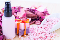 Aroma wellness cosmetic beauty objects Stock Photography