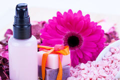 Aroma wellness cosmetic beauty objects Royalty Free Stock Photography